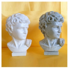 Polyresin Roman Head sculpture