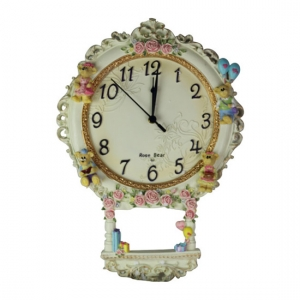 Clock With flower